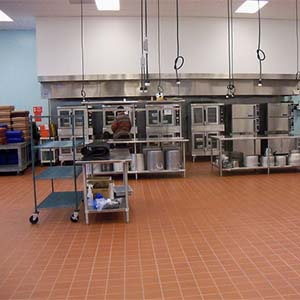 A Commercial Kitchen in the food production industry - Food Production Cleaning available at Heath & Wiltshire