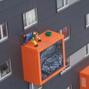 windows, gutters and building façade cleaning services